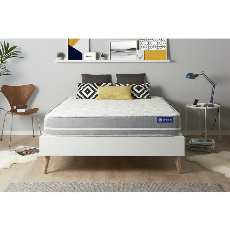 Actimemo touch matratze 130x210cm, Dicke : 20 cm, Memory-Schaum, Mittel, 3 Komfortzonen, H3
