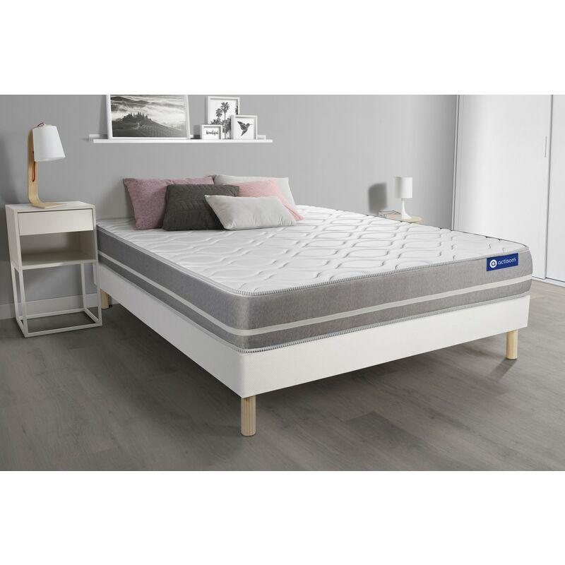 Actimemo touch matratze 130x210cm + Bettgestell mit lattenrost , Härtegrad 2 , Memory-Schaum , Höhe : 20 cm