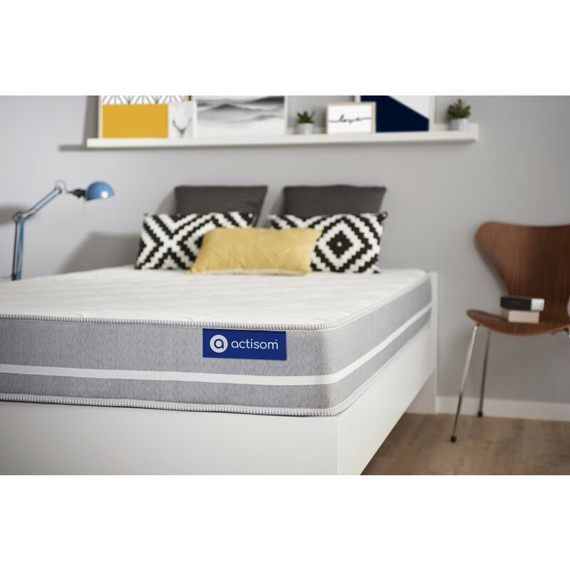Actisom - Actimemo touch matratze 90x200cm, Dicke : 20 cm, Memory-Schaum, Mittel, 3 Komfortzonen, H3