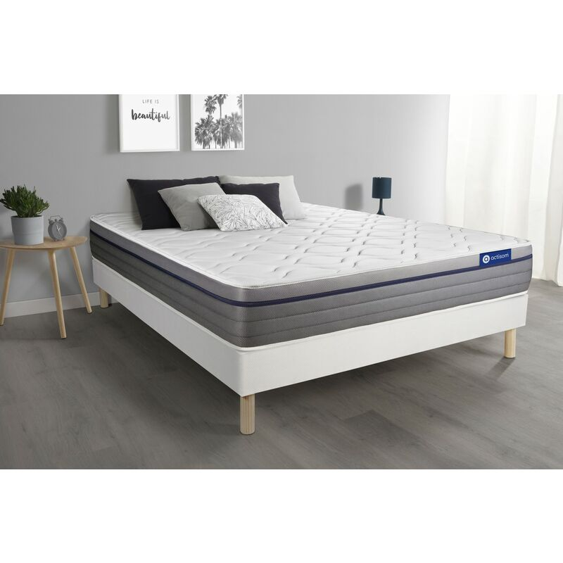 Actimemo zen matratze 150x190cm + Bettgestell mit lattenrost , Härtegrad 2 , Memory-Schaum , Höhe : 26 cm