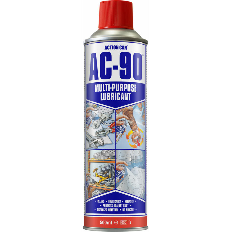 Image of 1839 AC-90 Multipurpose Lubricant 500ml Aerosol - Action Can