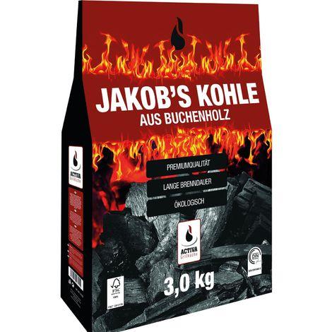 "ACTIVA Grill-Holzkohle ""Jakob´s Kohle"", 3 kg"