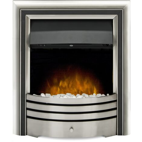 Adam Astralis 6-in1 Electric Fire with Interchangeable trims & Remote Control in Chrome