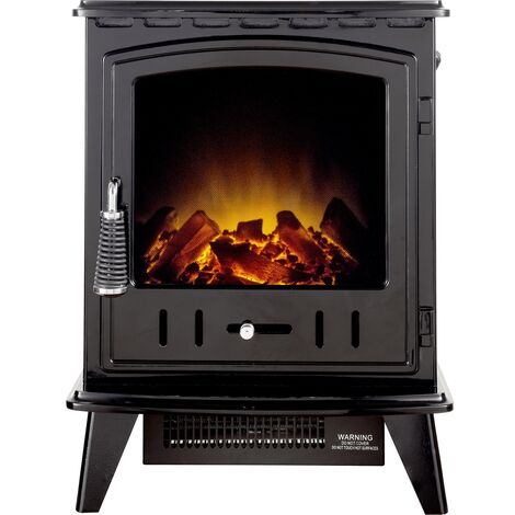 Adam Aviemore Electric Stove in Black Enamel