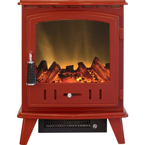 Adam Aviemore Electric Stove in Red Enamel