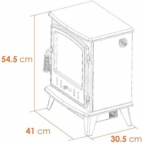Adam Aviemore Freestanding Stove Fire Heater Heating Real Log Effect Flame Cream