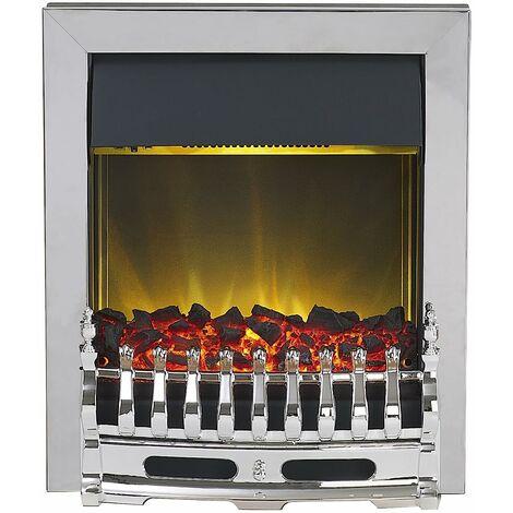 Adam Blenheim Electric Fire in Chrome