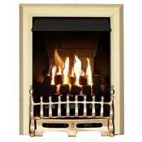 Adam Blenheim Slimline Gas Fire in Brass