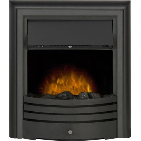 Adam Cambridge 6-in-1 Electric Fire in Black