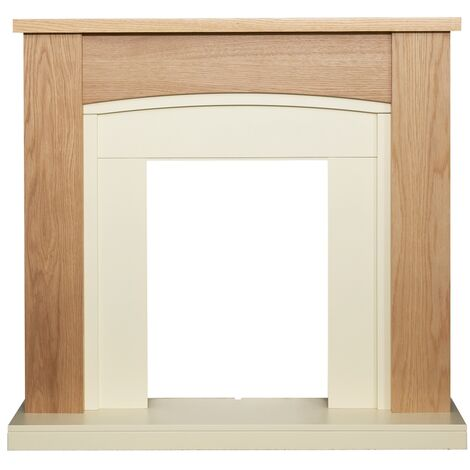 Adam Chilton Fireplace in Oak and Cream, 39 Inch