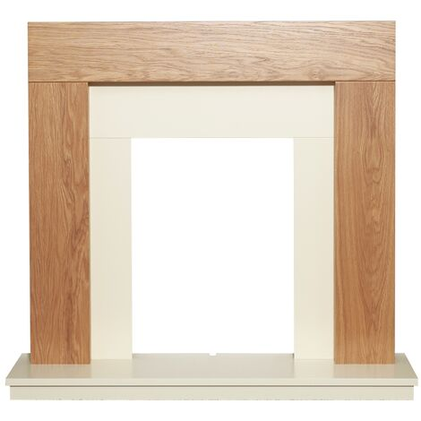 Adam Dakota Fireplace in Oak, 39 Inch