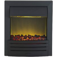 Adam Eclipse Electric Fire in Black
