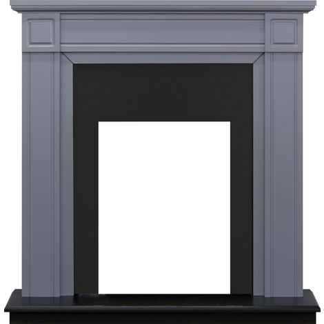 Adam Georgian Fireplace in Grey and Black, 39 Inch