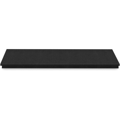 Adam Granite Stone Hearth in Black, 48 Inch
