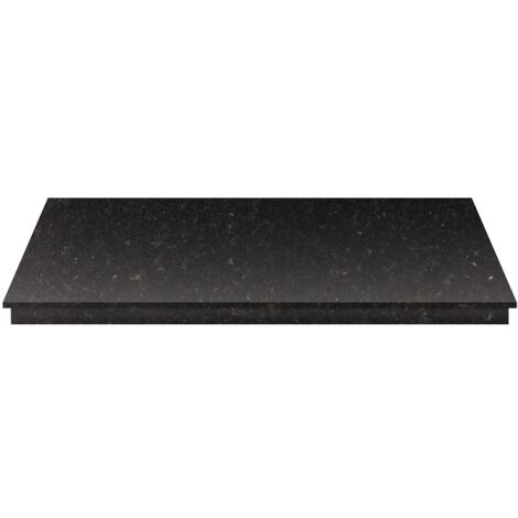 Adam Granite Stone Hearth in Black, 60 Inch