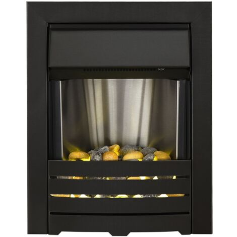 Adam Helios Electric Fire in Black