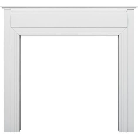 Adam Honley Mantelpiece in Pure White, 48 Inch