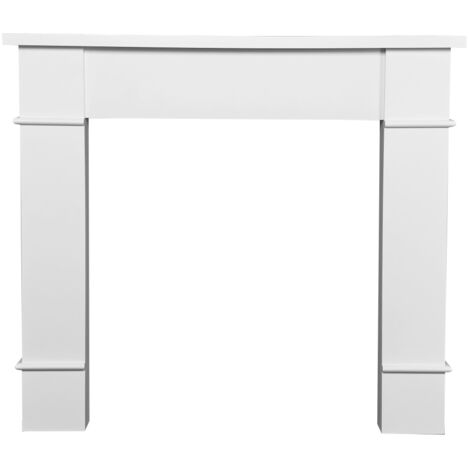 Adam Linton Mantelpiece with Downlights in Pure White, 48 Inch