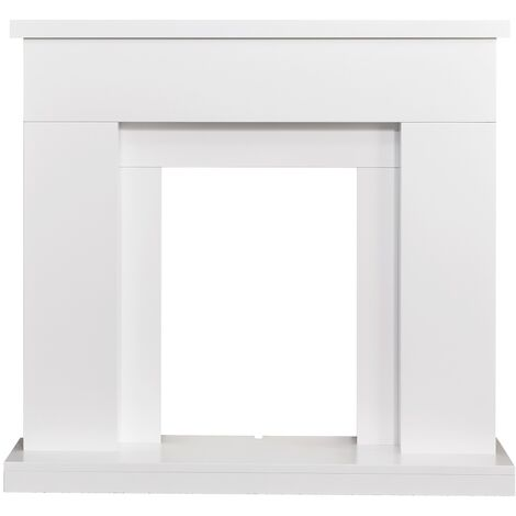 Adam Lomond Fireplace in Pure White, 39 Inch