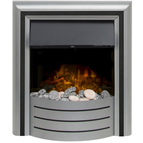 Adam Lynx 3-in-1 Electric Fire with Interchangeable Trims in Chrome