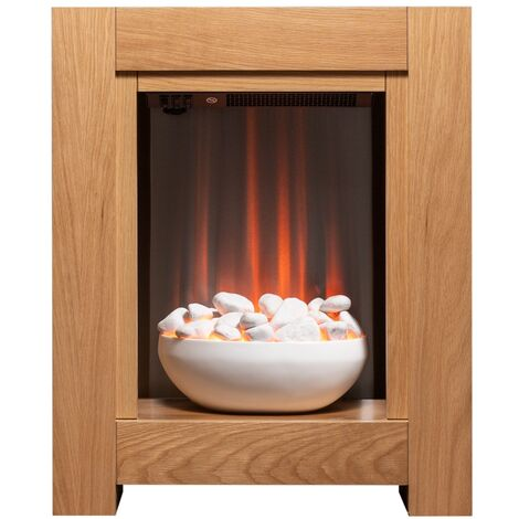 Adam Monet Fireplace Suite in Oak with Electric Fire, 23 Inch