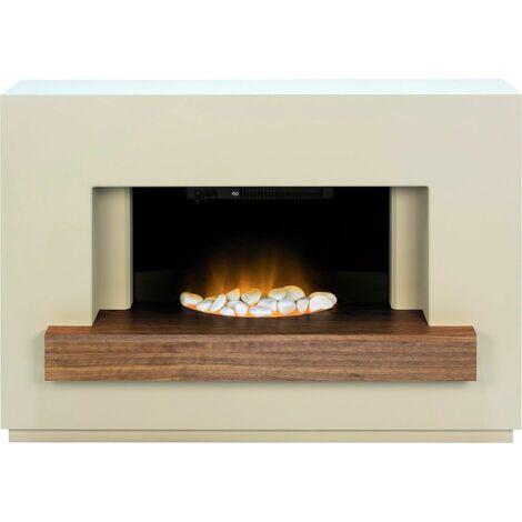 Adam Sambro Stone Fireplace Suite Electric Fire Heater Heating Flame Effect