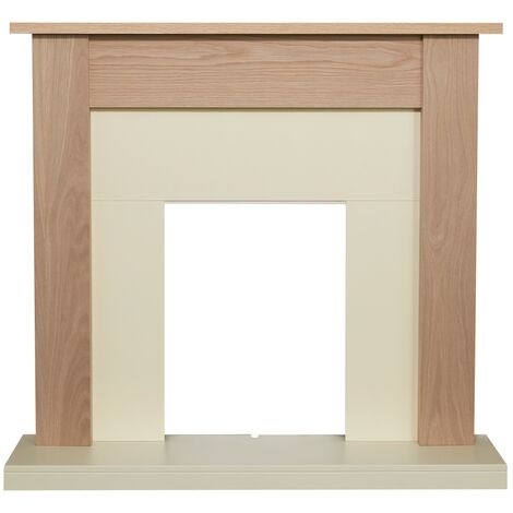 Adam Southwold Fireplace in Oak & Cream, 43 inch