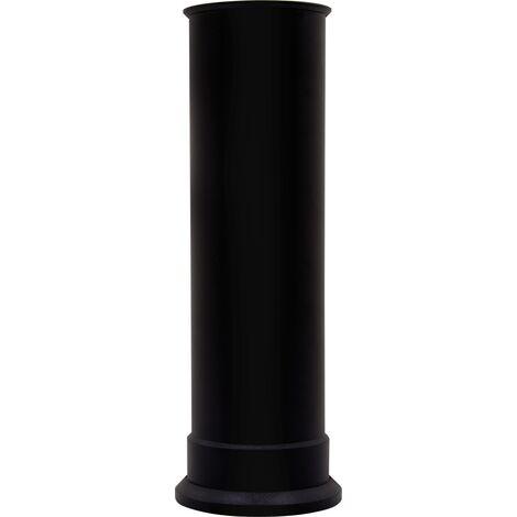 Adam Straight Stove Pipe in Black
