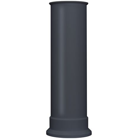 Adam Straight Stove Pipe in Charcoal Grey