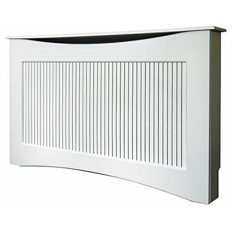 Adam The Fairlight Radiator Cover in White, 1600mm