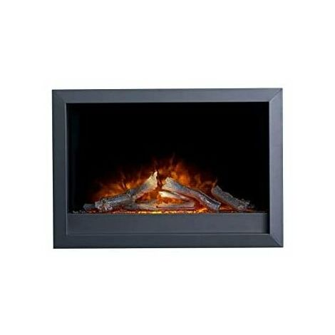 Adam Toronto Electric Wall Inset Fire with Remote Control in Black
