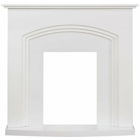 Adam Truro Fireplace in Pure White, 41 Inch