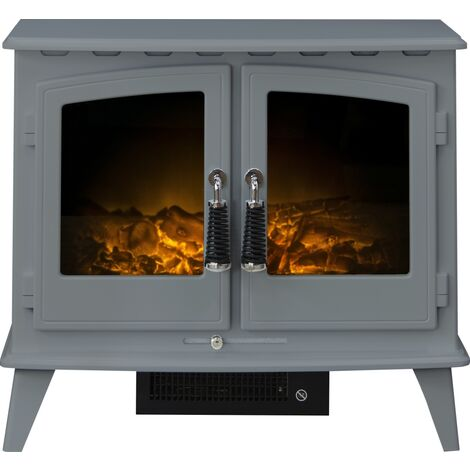 Adam Woodhouse Electric Stove in Grey