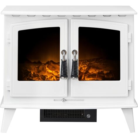 Adam Woodhouse Electric Stove in Pure White