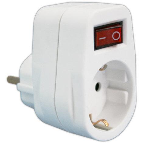 Adaptador 1 toma con interruptor 16A/250V. Con protección para niños 36.082 Electro DH 8430552138838