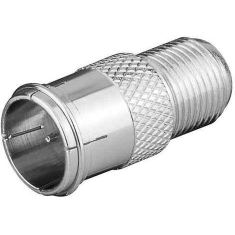 "main image of ""Adaptador antena tipo F hembra a tipo F macho Gris"""