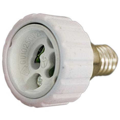 Adaptador bombillas E14 a GU10 cerámico 2A/250V Electro DH. 12.105 8430552138876