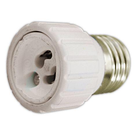 Adaptador bombillas E27 a GU10 cerámico 2A/250V Electro DH. 12.100 8430552138852