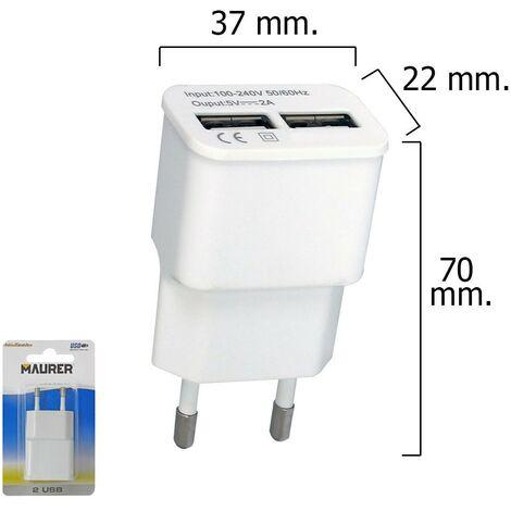 Adaptador /cargador Enchufe a Usb