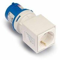 Adaptador Clavija Electricidad 2P+T Base 2P+Ttl Poliamida/ABS Az Famat