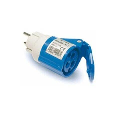 Adaptador Clavija Electricidad 2P+Ttl Base 2P+T Poliamida/ABS Az Famat