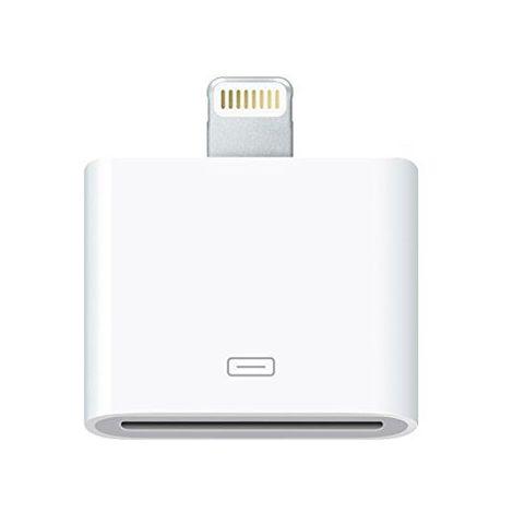 Adaptador conversor cable Lightning a 30 pin Blanco