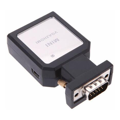 Adaptador / convertidor de vídeo y audio VGA a HDMI Yatek YK-105