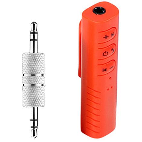 Adaptador de audio de la musica del receptor BT inalambrica estereo de 3,5 mm para el altavoz del coche, Rojo