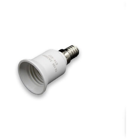 Adaptador de bombillas con casquillo E14 a E27