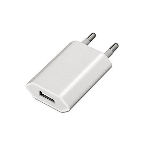 Adaptador de corriente USB compatible con Ipod/Iphone Blanco
