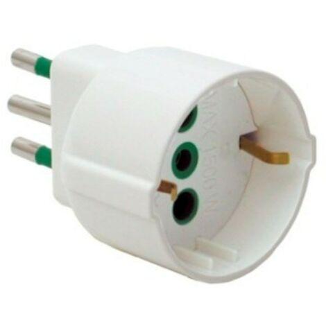 Adaptador de Fanton enchufe 10A+T Schuko socket 82120