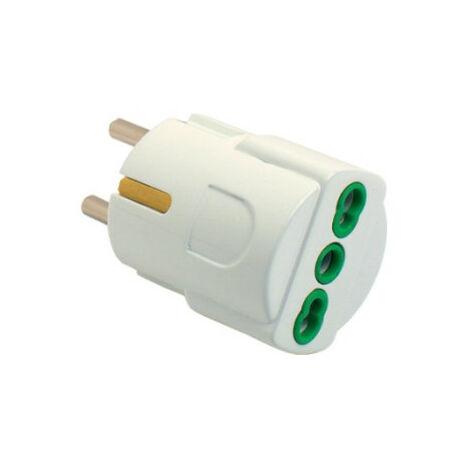 Adaptador de Fanton plug Unel toma doméstico y el tapón de derivación-Blanco 81090