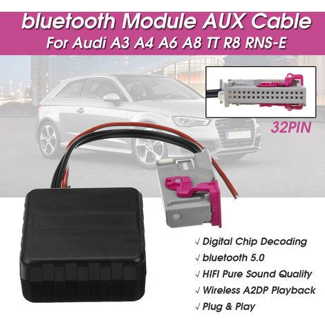 Adaptador de módulo Bluetooth Cable auxiliar para Audi A3 A4 A6 A8 TT R8 RNS-E