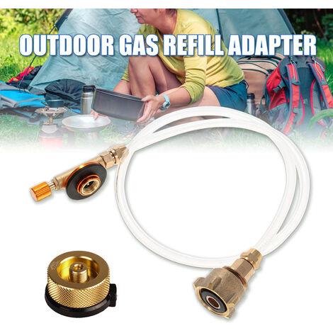 Adaptador de recarga de propano para estufa de camping al aire libre Adaptador de conversion de gas acoplador de cilindro plano LPG
